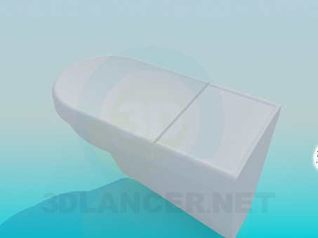 3d модель Унітаз із кришкою – превью