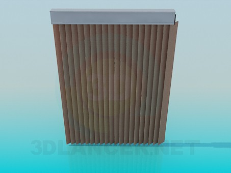 3d modeling Vertical blinds model free download