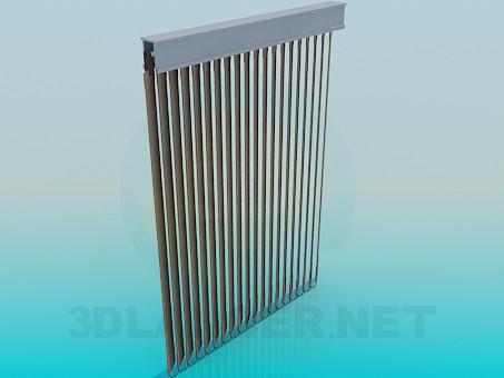 3d модель Вертикальные жалюзи – превью