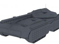 "Tank futuriste ""Marque"""