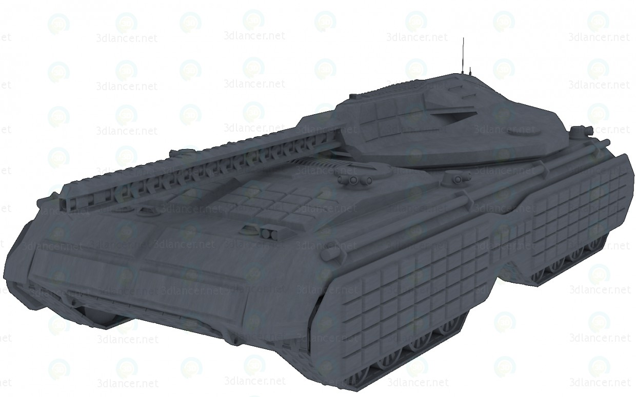 "3d model Futuristic tank ""Mark"" - preview"
