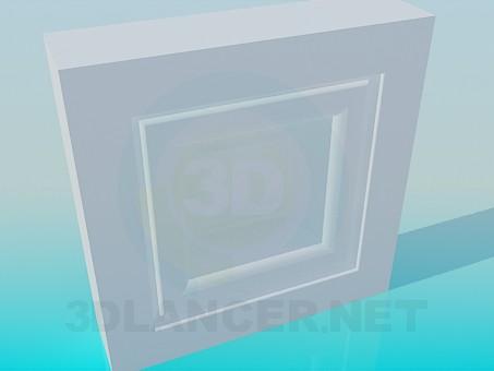 3d модель Обрамление окна – превью
