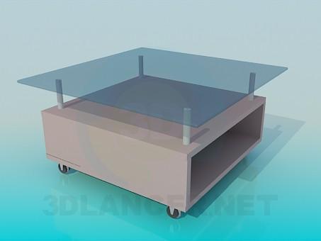 3d моделирование Журнальный столик на колесиках модель скачать бесплатно