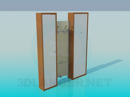 3d model Cupboard in the entrance hall - preview