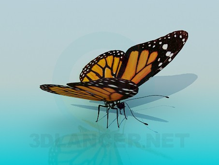 modelo 3D Mariposa - escuchar