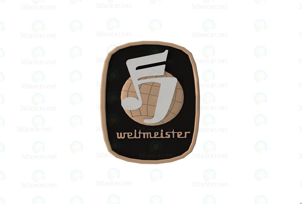 3d modeling Emblem Weltmeister model free download