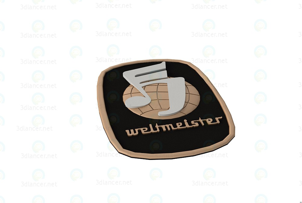 3d model Emblem Weltmeister - preview