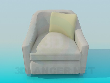 3d modeling Armchair with cushion model free download
