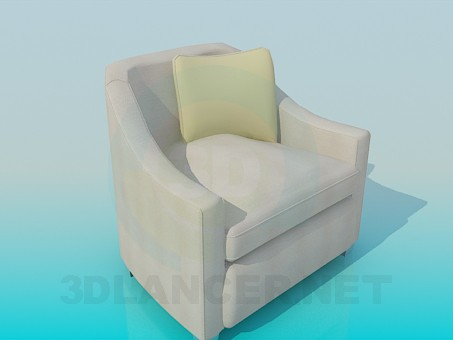 3d model Armchair with cushion - preview
