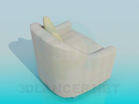modelo 3D Sillón con cojín - escuchar