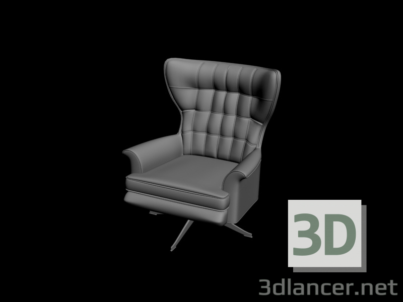 3 डी मॉडल कुरसी - पूर्वावलोकन
