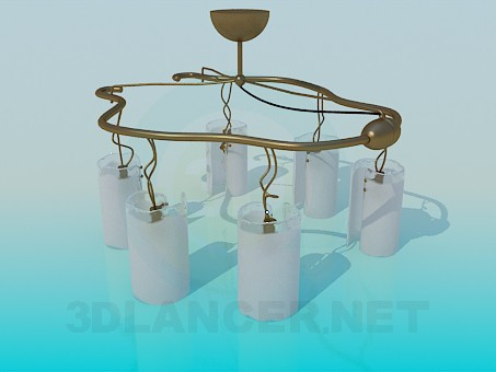 3d model Chandelier at 6 lamps - preview