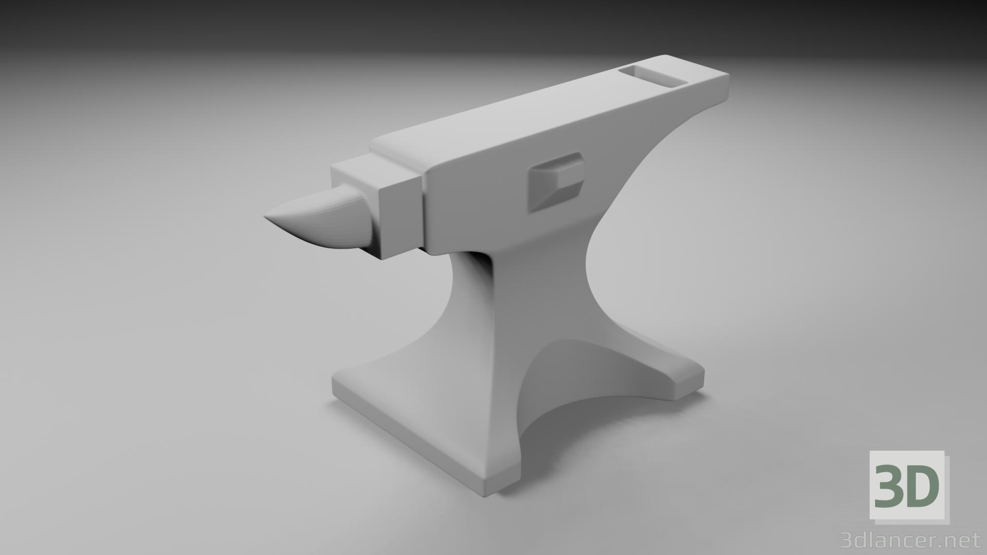 3d Anvil model buy - render