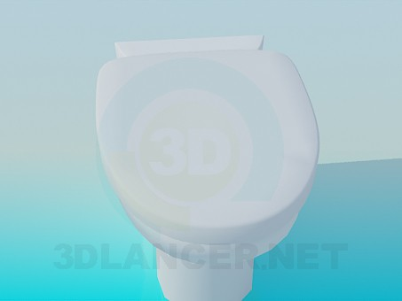 3d modeling Toilet on the stem model free download