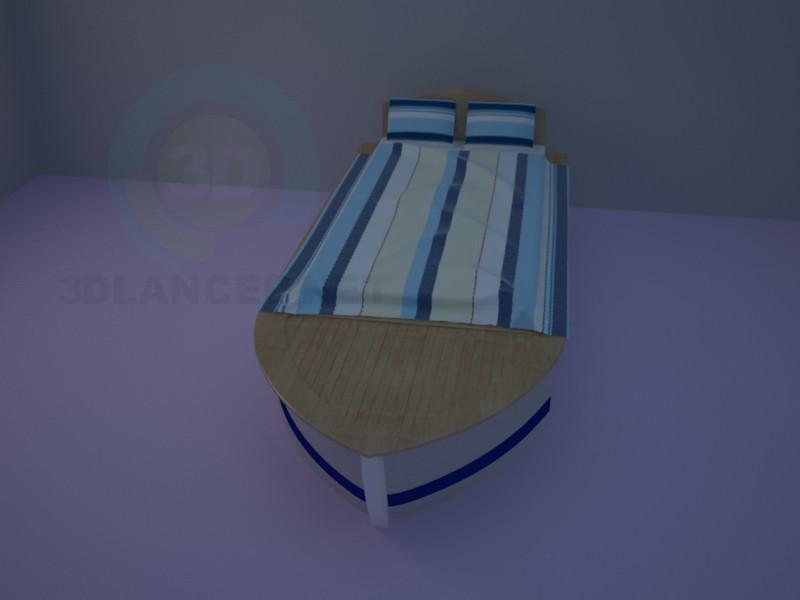 3d modeling Bed-boat model free download