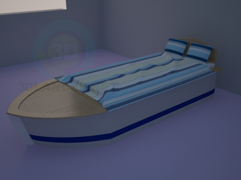 3d model Bed-boat - preview