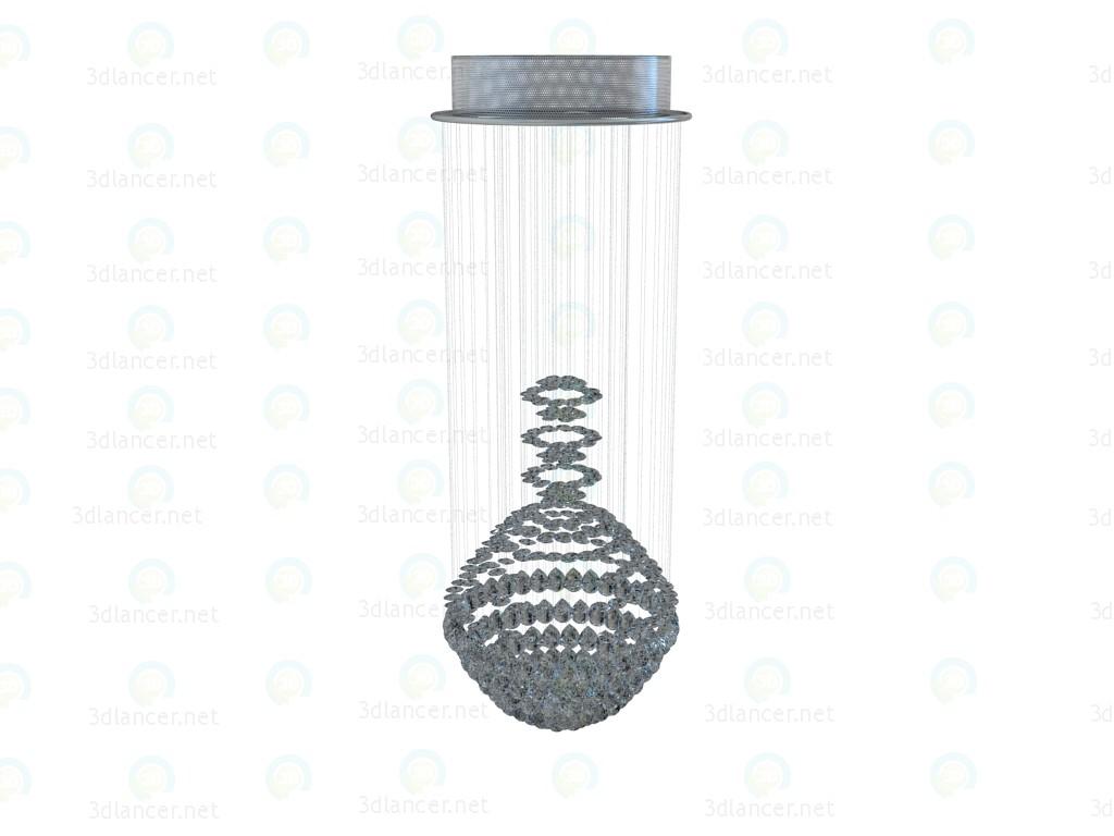 modelo 3D Lámpara Chandelier caída de diamantes - escuchar