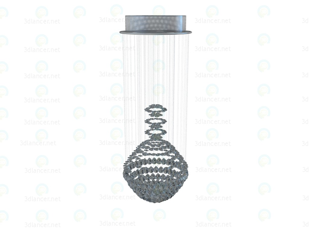 3d model Diamonds Falling Chandelier Bulb - preview