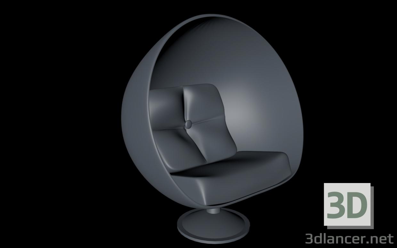 """3d Armchair """"Hemisphere"""" model buy - render"""