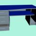 3 डी मॉडल कार्यालय की मेज, प्लास्टिक का लिबास। - पूर्वावलोकन