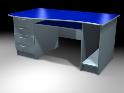 Office table, plastic veneer.