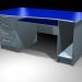 3d model Office table, plastic veneer. - preview