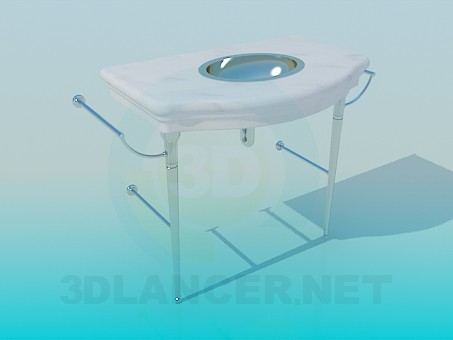 3d model wash basin - preview