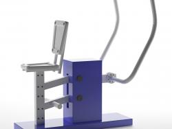 "Outdoor bench press ""chest press"""