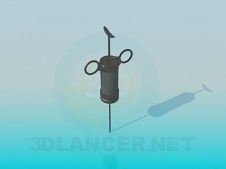 modelo 3D Antigua jeringa - escuchar