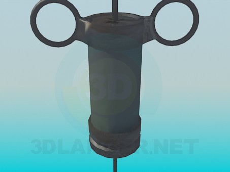 3d model Old syringe - preview