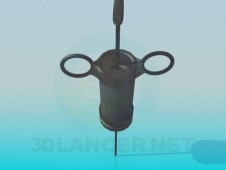 3d model Old syringe - preview