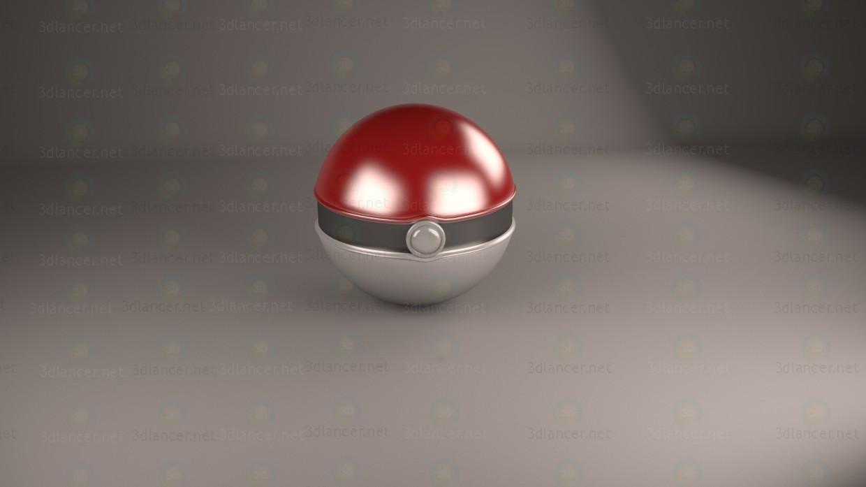 3d Шарик PokeBall модель купить - ракурс