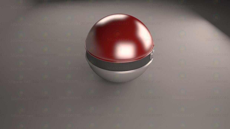 PokeBall 3D modelo Compro - render