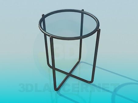 3d модель Стул со стеклянным сидением – превью