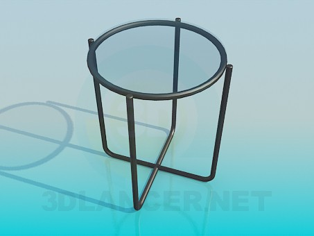 3d model Chair seat with a glass - preview