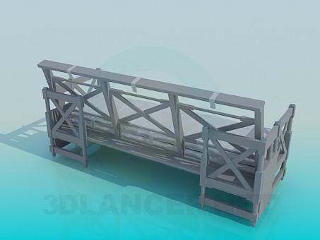 3d модель Диван-скамья – превью