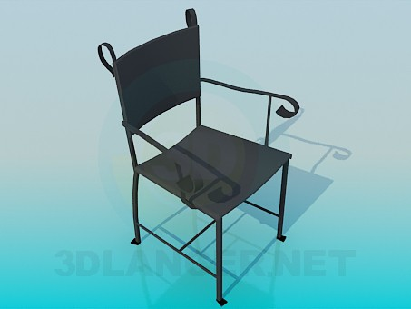 3d моделювання Залізний стілець модель завантажити безкоштовно