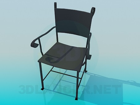 3d model Iron chair - preview