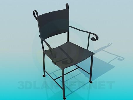 3d модель Железный стул – превью