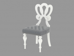 Dining chair with curly head