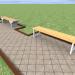 3d Bench, bench model buy - render