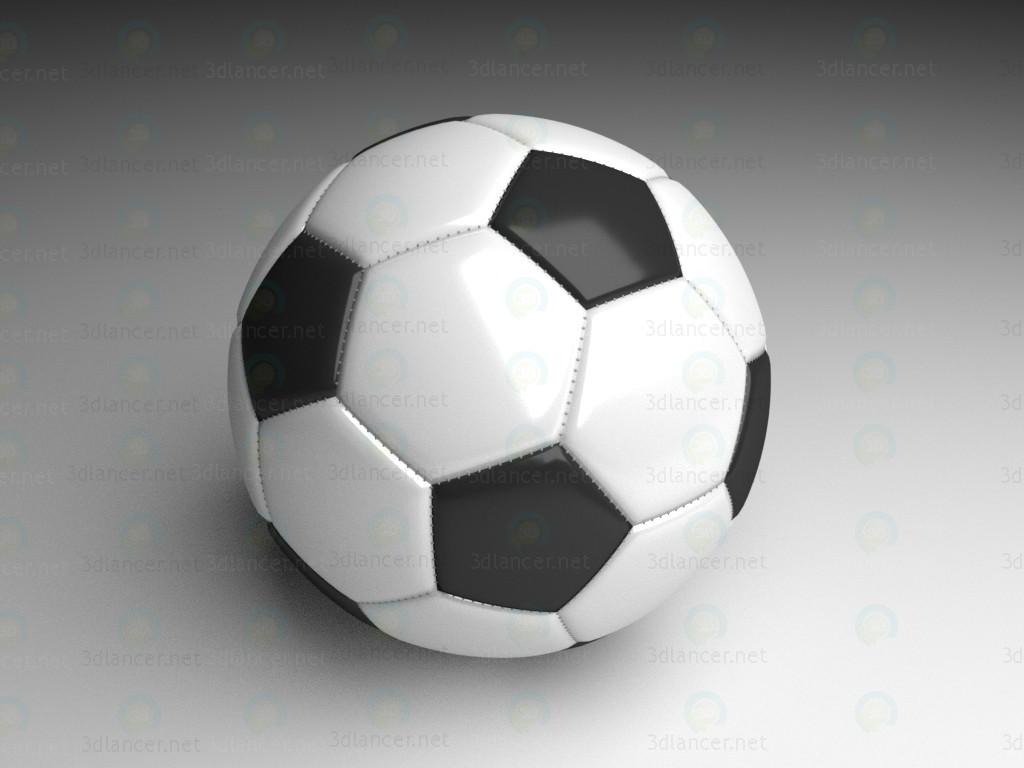 modelo 3D Balón de fútbol - escuchar