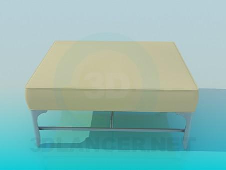 3d модель Квадратная кушетка – превью