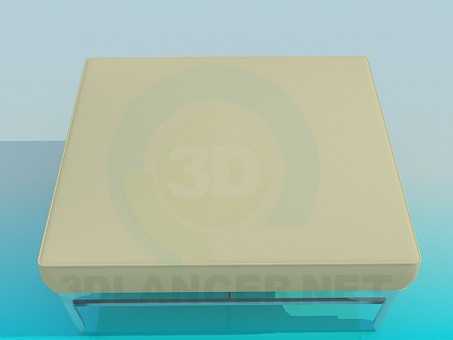 modelo 3D Sillón cuadrado - escuchar