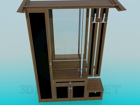 3d моделирование Шкаф в прихожую модель скачать бесплатно