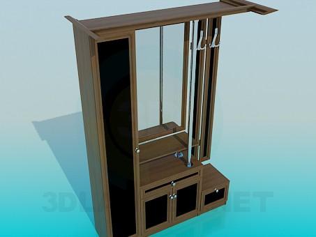 modelo 3D Armario en el hall de entrada - escuchar