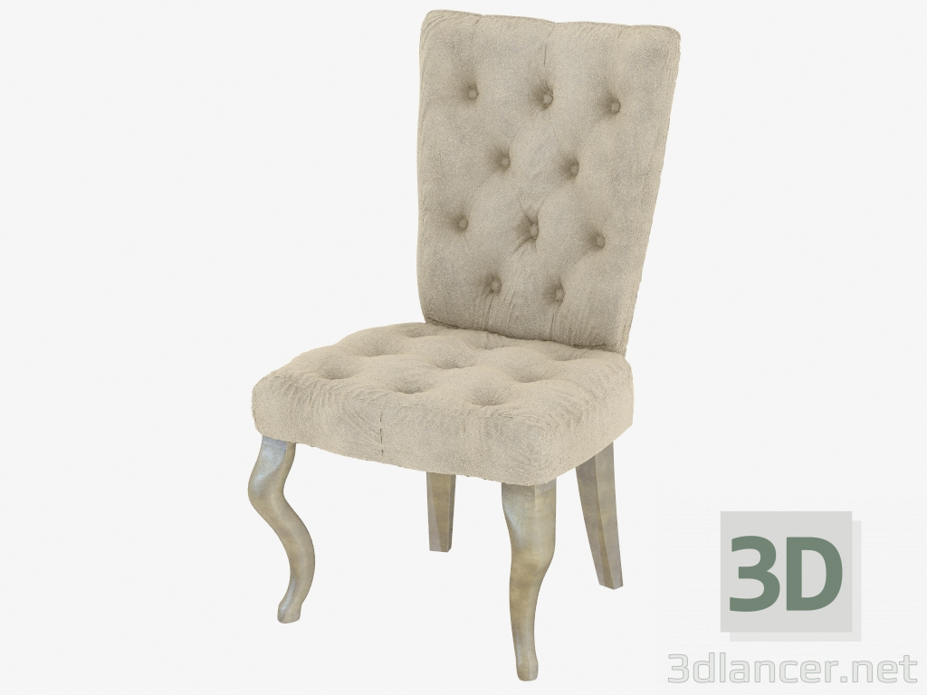 Strange 3D Model Dining Chair In Art Deco Style Fratelli Barri Max Machost Co Dining Chair Design Ideas Machostcouk