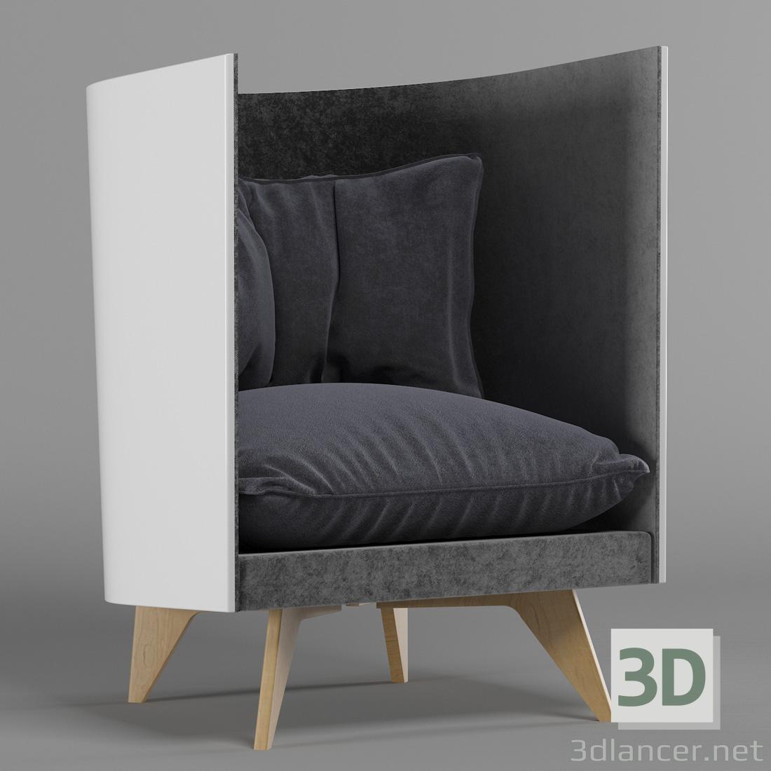 3 डी ODESD2-V1-आर्मचेयर मॉडल खरीद - रेंडर