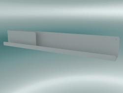 Ripiano ripiegato (96x13 cm, grigio)