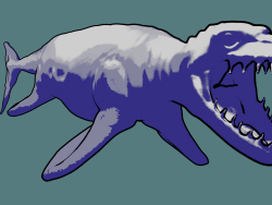 Mosasaur-inspired water monster